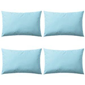 Almofadas para exterior 4 pcs 60x40 cm azul claro - PORTES GRÁTIS