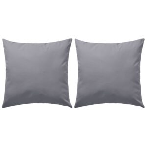 Almofadas para exterior 2 pcs 45x45 cm cinzento - PORTES GRÁTIS