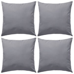 Almofadas para exterior 4 pcs 45x45 cm cinzento - PORTES GRÁTIS