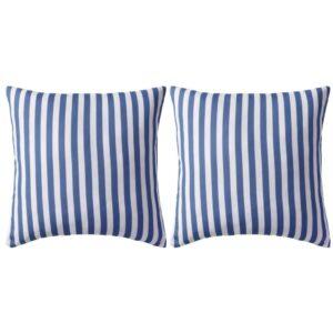 Almofadas para exterior 2 pcs 45x45 cm riscas azul-marinho - PORTES GRÁTIS