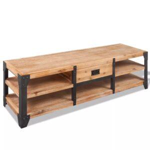 Móvel TV madeira de acácia maciça 140x40x45 cm - PORTES GRÁTIS