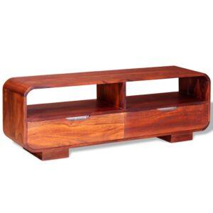 Móvel de TV em madeira de sheesham maciça 116x30x40 cm - PORTES GRÁTIS