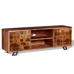 Móvel de TV madeira sheesham maciça 120x30x40 cm - PORTES GRÁTIS