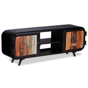 Móvel de TV madeira recuperada 120x30x45 cm - PORTES GRÁTIS