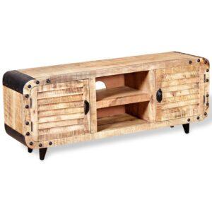 Móvel de TV madeira de mangueira rústica 120x30x50 cm - PORTES GRÁTIS