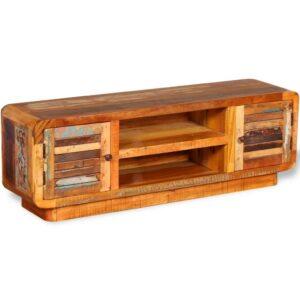 Móvel de TV, madeira sólida recuperada, 120x30x40 cm - PORTES GRÁTIS