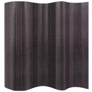 Biombo/divisória de sala 250x195 cm bambu cinzento - PORTES GRÁTIS