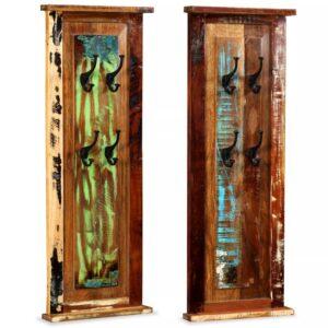 Bengaleiros 2 pcs madeira reciclada maciça 38x100 cm - PORTES GRÁTIS