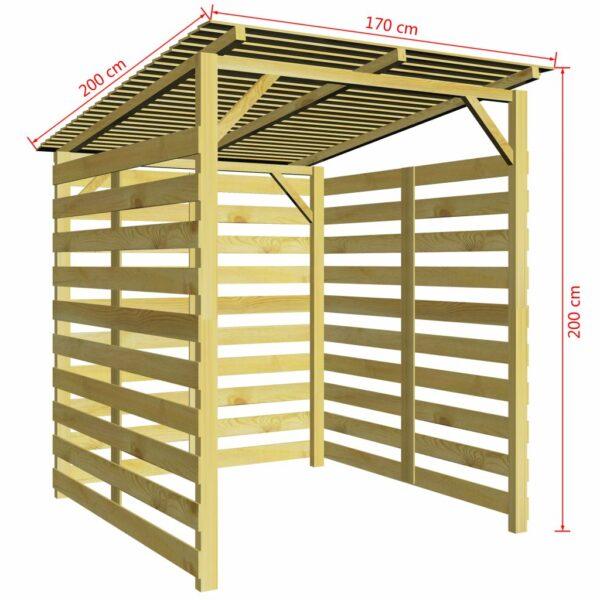 Abrigo para arrumação lenha pinho impregnado (FSC) - PORTES GRÁTIS