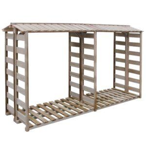 Abrigo para arrumação de lenha 300x100x176 cm pinho impregnado - PORTES GRÁTIS