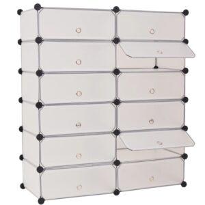 Sapateira c/ 12 compartimentos de arrumação interligados branco - PORTES GRÁTIS