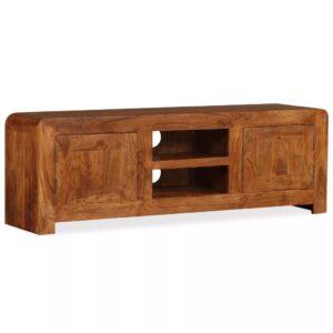 Móvel TV madeira maciça c/ acabamento em sheesham 120x30x40cm - PORTES GRÁTIS