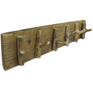Bengaleiro de parede madeira reciclada maciça 60x15 cm - PORTES GRÁTIS