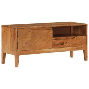 Móvel de TV em madeira de acácia maciça 88x30x40 cm - PORTES GRÁTIS