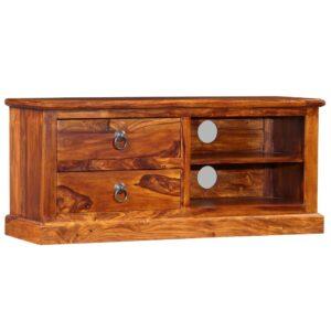 Móvel de TV madeira sheesham maciça 90x30x40 cm - PORTES GRÁTIS