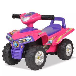 Moto4 para crianças com som e luz rosa e roxo - PORTES GRÁTIS