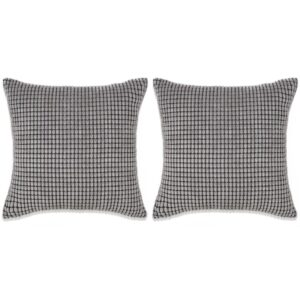Conjunto de 2 almofadas em veludo 45x45 cm cinzento - PORTES GRÁTIS