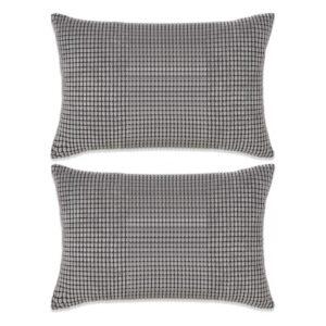 Conjunto de 2 almofadas em veludo 40x60 cm cinzento - PORTES GRÁTIS