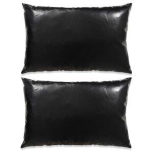 Conjunto de almofadas 2 pcs PU 40x60 cm preto - PORTES GRÁTIS