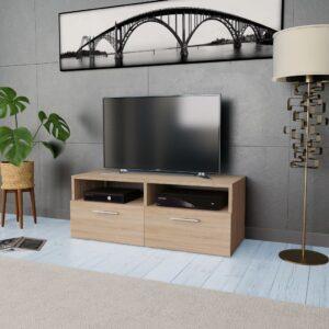 Móvel de TV em aglomerado 95x35x36 cm carvalho  - PORTES GRÁTIS