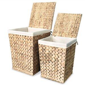 Conjunto cestos para roupa suja 2 pcs jacinto de água - PORTES GRÁTIS