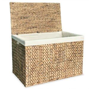 Cesto para roupa suja 82x42,5x52,5 cm jacinto de água - PORTES GRÁTIS