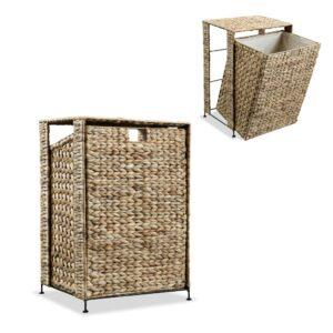 Cesto para roupa suja 44x34x64 cm jacinto de água - PORTES GRÁTIS