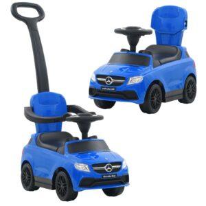 Carro passeio c/ barra de empurrar Mercedes Benz GLE63 azul - PORTES GRÁTIS