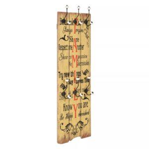 Bengaleiro de parede com 6 ganchos 120x40 cm FAMILY  - PORTES GRÁTIS