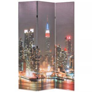 Biombo dobrável Nova Iorque de noite 120x170 cm - PORTES GRÁTIS