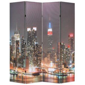 Biombo dobrável Nova Iorque de noite 160x170 cm - PORTES GRÁTIS