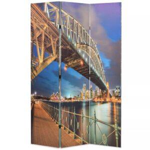 Biombo dobrável estampa da ponte do porto de Sydney 120x170 cm - PORTES GRÁTIS
