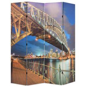 Biombo dobrável estampa da ponte do porto de Sydney 160x170 cm - PORTES GRÁTIS
