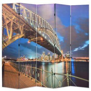 Biombo dobrável estampa da ponte do porto de Sydney 200x170 cm - PORTES GRÁTIS
