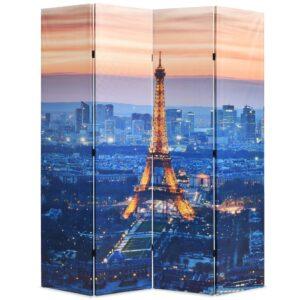 Biombo dobrável Paris à noite 160x170 cm - PORTES GRÁTIS