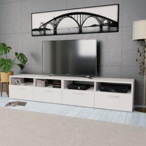 Móveis de TV 2 pcs aglomerado 95x35x36 cm branco - PORTES GRÁTIS