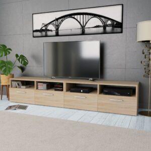 Móveis de TV 2 pcs aglomerado 95x35x36 cm cor carvalho - PORTES GRÁTIS