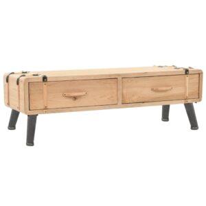 Móvel de TV madeira de abeto maciça 120x33x35 cm - PORTES GRÁTIS