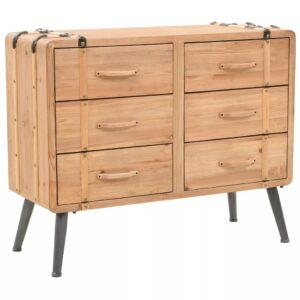 Armário com gavetas madeira de abeto maciça 91x35x73 cm - PORTES GRÁTIS
