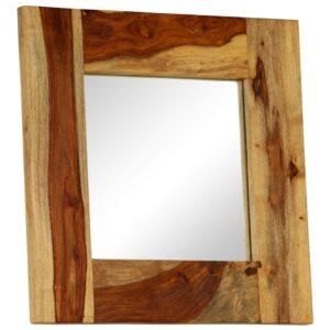 Espelho em madeira de sheesham maciça 50x50 cm - PORTES GRÁTIS