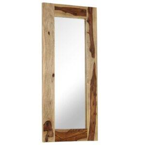 Espelho em madeira de sheesham maciça 50x110 cm - PORTES GRÁTIS