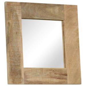 Espelho em madeira de mangueira maciça 50x50 cm - PORTES GRÁTIS