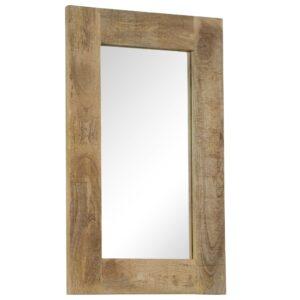 Espelho em madeira de mangueira maciça 50x80 cm - PORTES GRÁTIS
