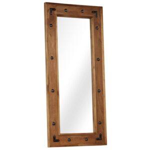 Espelho em madeira de acácia maciça 50x110 cm - PORTES GRÁTIS
