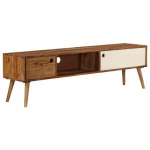 Móvel de TV 140x50x35 cm madeira de sheesham maciça - PORTES GRÁTIS