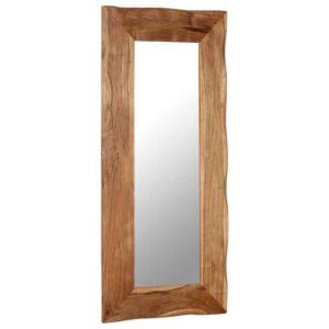 Espelho de parede 50x110 cm madeira de acácia maciça - PORTES GRÁTIS