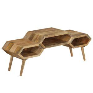 Suporte de TV madeira de mangueira maciça 119x35x45 cm - PORTES GRÁTIS