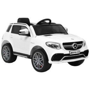 Carro para crianças Mercedes Benz GLE63S plástico branco - PORTES GRÁTIS