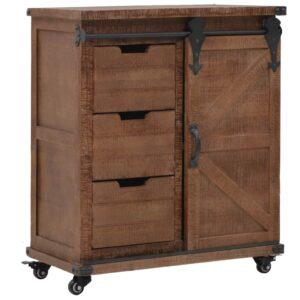 Armário de arrumação madeira de abeto 64x33,5x75 cm castanho - PORTES GRÁTIS