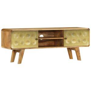 Móvel de TV madeira de mangueira maciça 120x30x45 cm - PORTES GRÁTIS